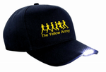 Yellow Army LED Light Cap