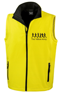 Yellow Army Men's Soft Shell Gilet