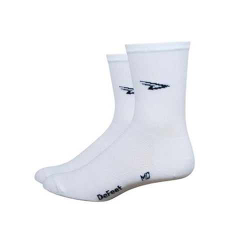 DeFeet Socks DeFeet Aireator Tall Cuff Socks -  D-Logo White