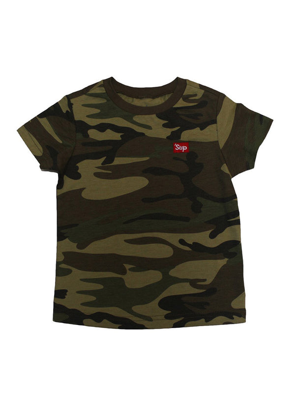'Sup Embroidered T-Shirt | Camo