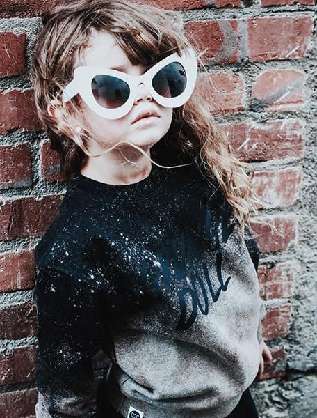 GRUNGE DOLL CREW SWEATSHIRT-OUTERWEAR-9 Twenty Five Kids-NINOCRUZ