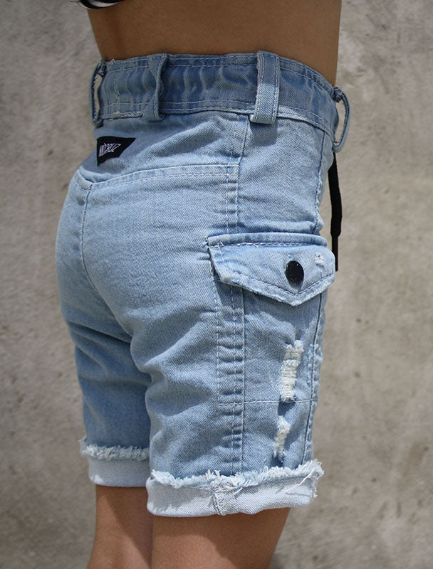 Cancùn Stretch Denim Short | Stone Washed Blue