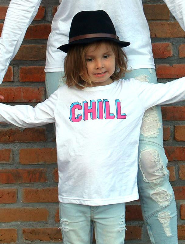 *PRE-ORDER* CHILL WHITE LONG SLEEVED TEE-TOPS-Brave & Fearless-NINOCRUZ