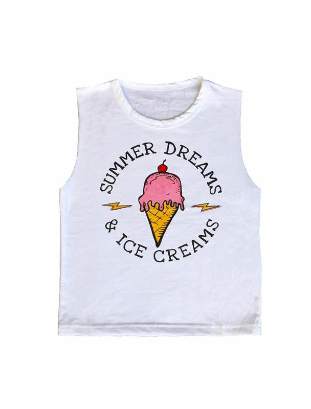 *PRE-ORDER* SUMMER DREAMS ICE CREAMS MUSCLE TEE-TOPS-Brave & Fearless-NINOCRUZ