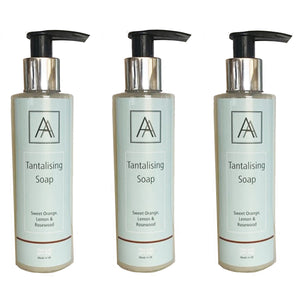 X3 150ml Tantalising Antibacterial Hand, Face and Body Soap