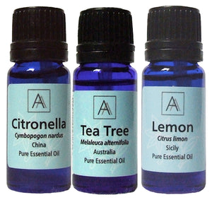 Citronella, Tea tree and Lemon