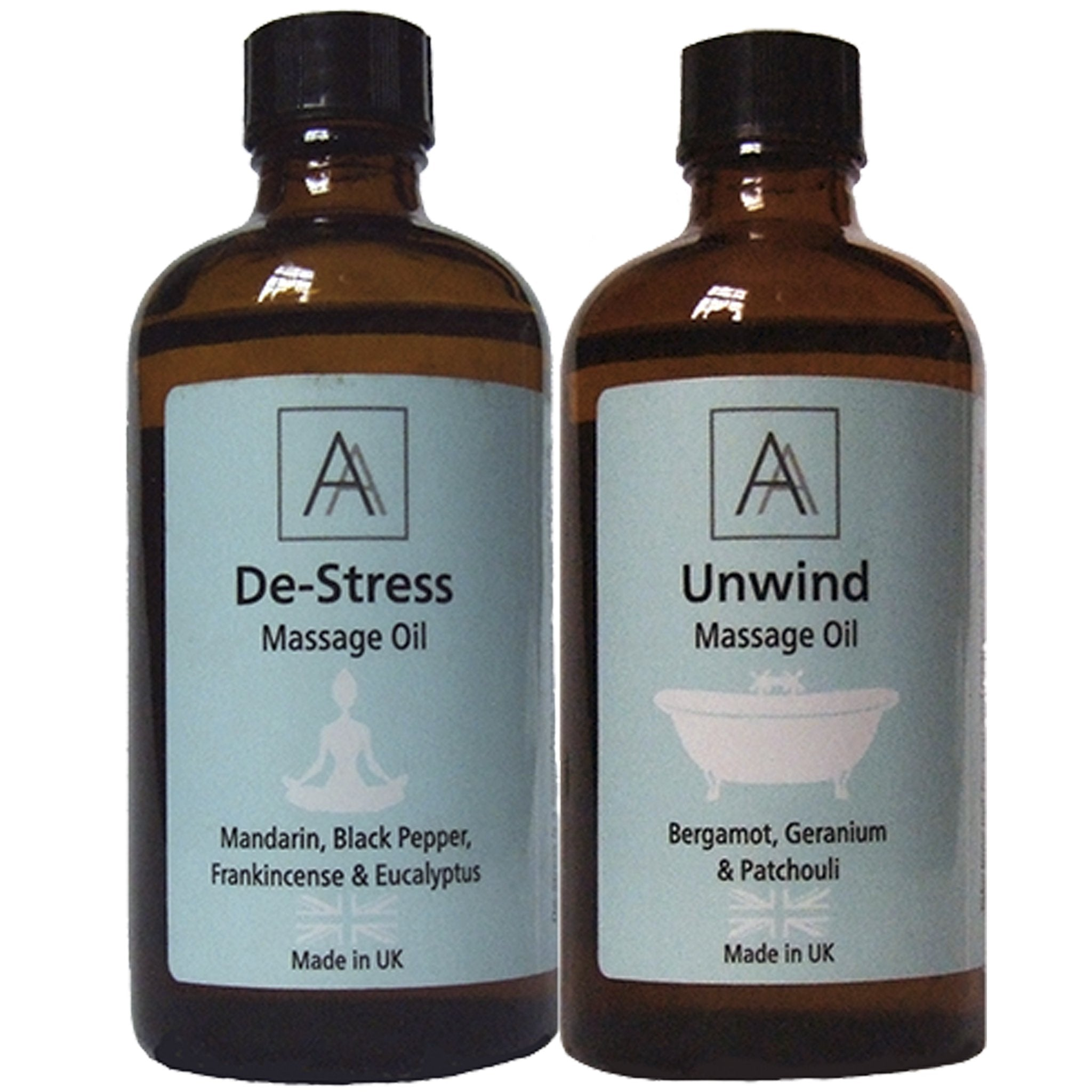 De-stress and Unwind Massage Oil's