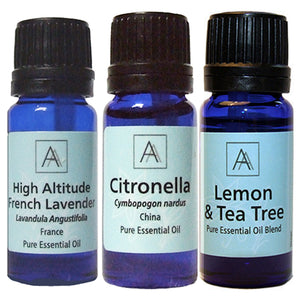 Citronella, Lavender and Lemon & Tea Tree Essential Oils