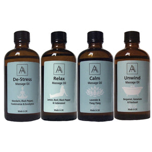 De-stress, Relax, Calm & Unwind Massage Oil set