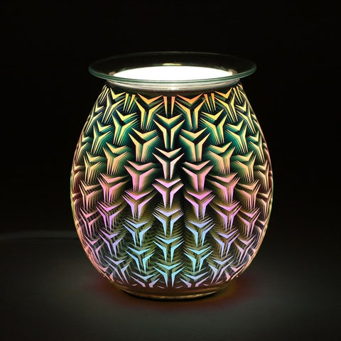 3D Geometric Light Up Electrical Oil Burner