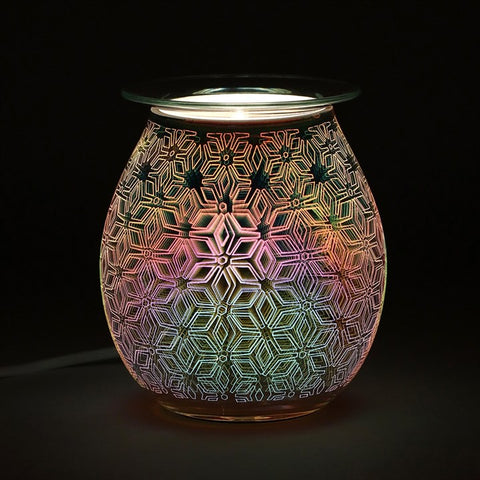 Geometric Flower Light Up Electrical Oil Burner