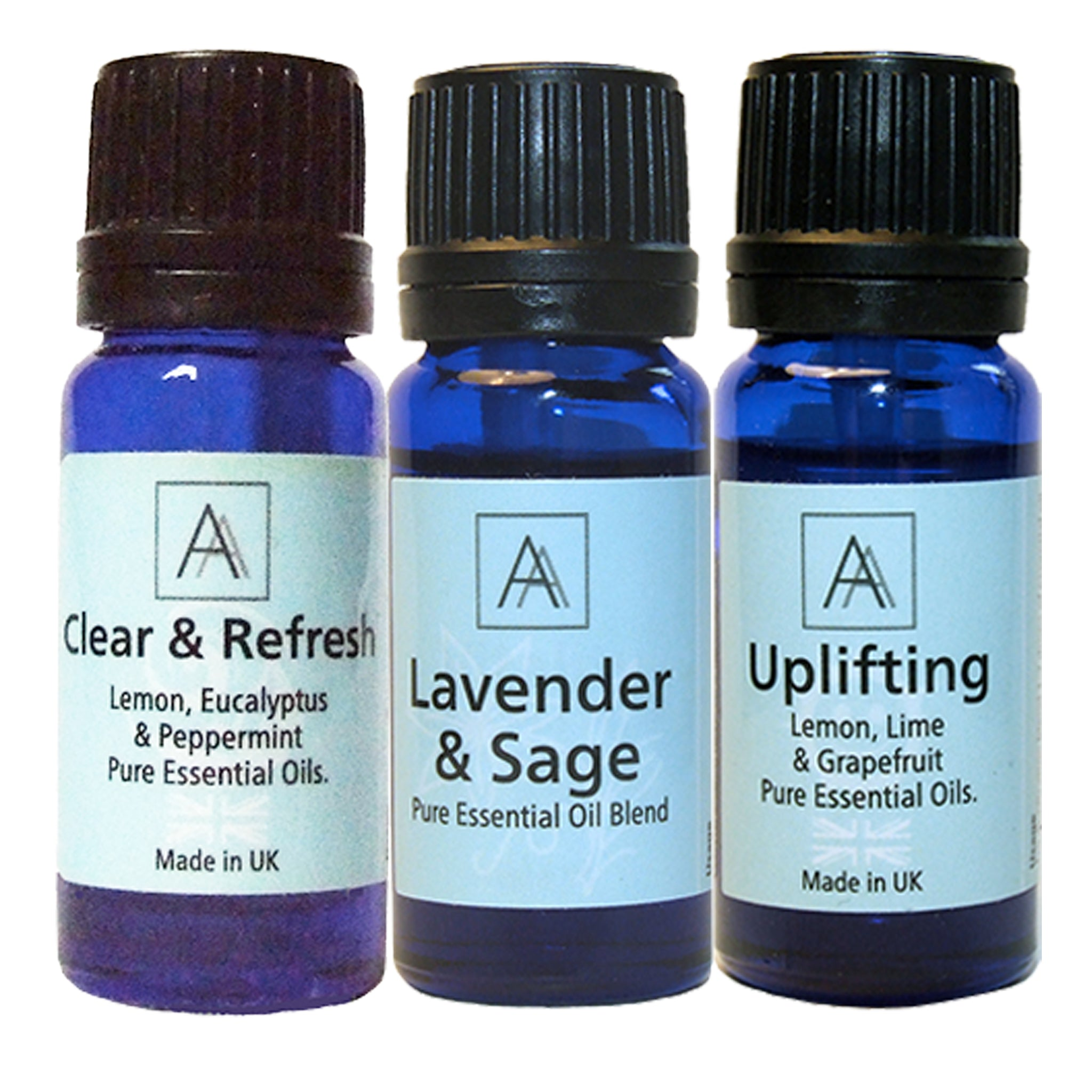 Clear & Refresh, Lavender & Sage and Uplifting