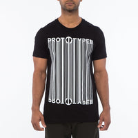 Prototype81 Barcode Tee - Identify yourself with the Barcode S/S Tee. Logo blends into a barcode graphic. 100% Cotton. Made in LA.