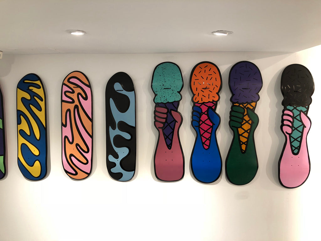 SKATEBOARDING WORKS - A COLLECTIVE OF UPCYCLED SKATEBOARD ART