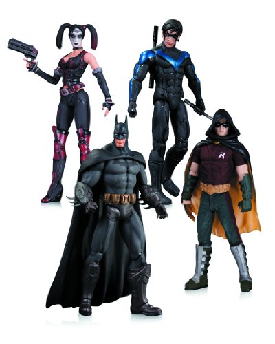 Arkham-City-Harley-Quinn-Batman-Nightwing-Robin-Action-Figure-4-Pack