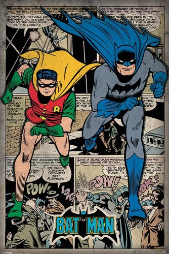 batman and robin retro