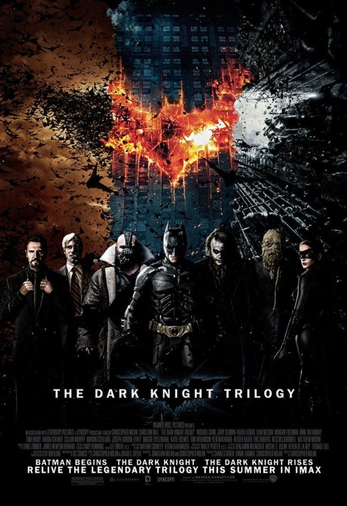 dark knight trilogy poster
