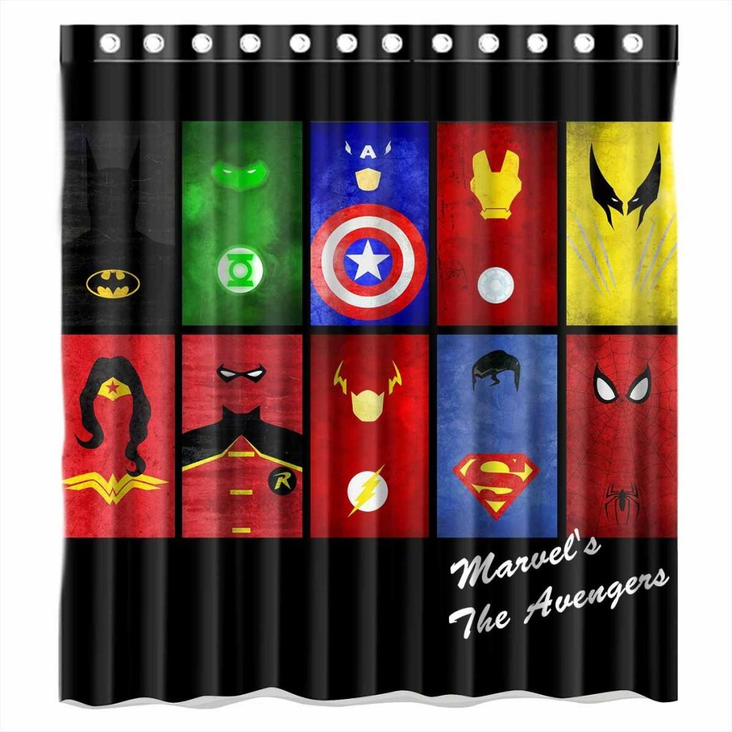 Dark knight shower curtain - Superheroes Shower Curtain
