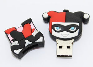 8gb Harley Quinn Flash Drive with Keychain