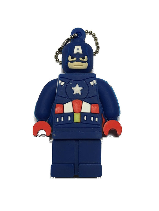 8GB Captain America Lego Edition Flash Drive, Memory Storage Device, Thumb Drive