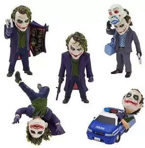 5 Piece set of DC Comics Model Batman's Joker Clown Villain 5 cm /1.97 Inch Action Figures