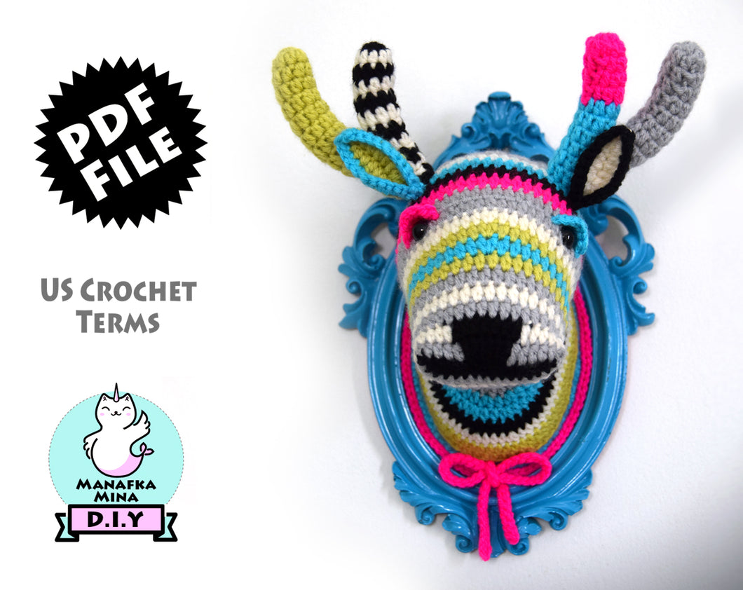 Crochet Pattern: Faux Taxidermy Deer Head
