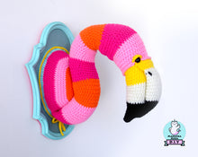 Load image into Gallery viewer, Crochet Pattern: Faux Taxidermy Flamingo  Head