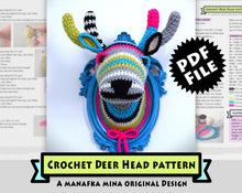 Load image into Gallery viewer, Crochet Pattern: Faux Taxidermy Deer Head