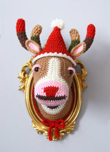 Load image into Gallery viewer, Crochet Pattern: Faux Taxidermy Color Block Deer Head