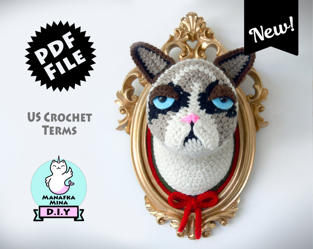 Christmas Special! Crotchety Cat Head Pattern