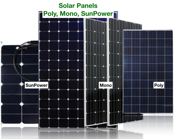 Solar Panels - Poly, Mono, SunPower