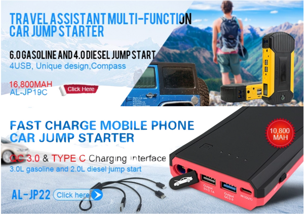 AL-JP31 - 1200A multi-function lithium battery portable power bank emergency tool kit 12V car jump starter