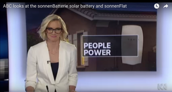 ABC looks at the sonnenBatterie solar battery and sonnenFlat