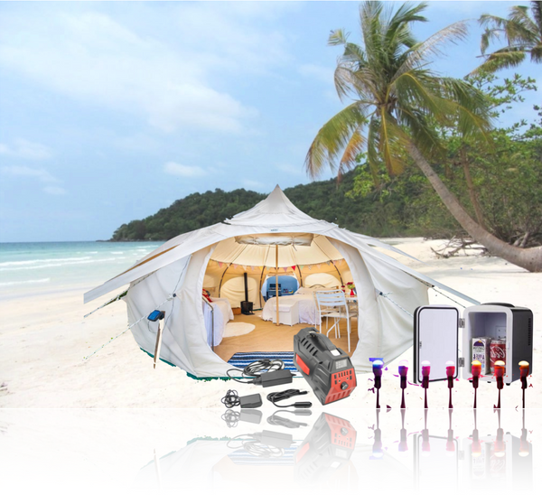 Beach Camping, Fishing gear,