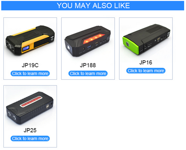 AL-JP20 - 20000MAH 12v/300A Mini Multi-function car battery jump starter booster. 5V/2.1A;5V/2A;12V/19V