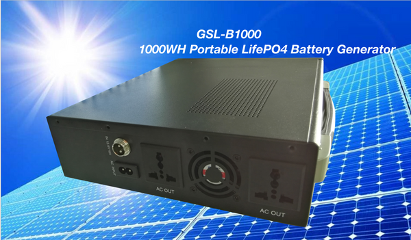 Portable 1000W Plug and Play power system with a built in Battery Management System (BMS).