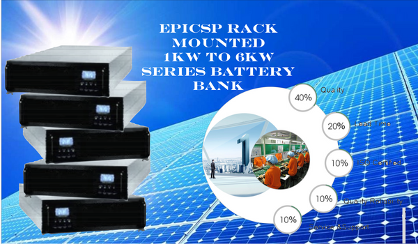 GREATPOWER - 1kW to 6kW Series Model EpicSP Rack Mounted Battery Bank