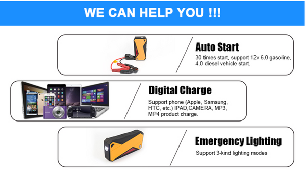 Autoline-AL-JP188A - 18000mAh 6.0L Petrol/4.0L Diesel Vehicle Quick Jump Starter Battery.  Large Portable, Powerful Power bank
