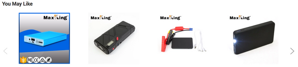 Quick jump starter, portable emergency lithium battery power bank.  MaxKing Renewable Energy Australia