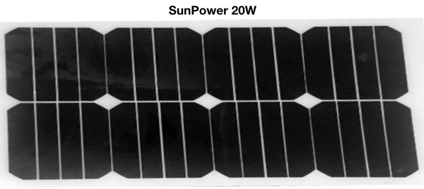 20W Sunpower Flexible Solar Panel