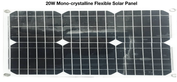 20W Flexible Monocrystalline Solar Panel