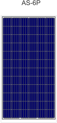 AS-6P Polycrystalline Solar Panels in Packs of 10