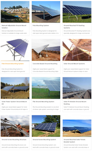 FOEN Solar Mounting Solutions Ground Structure