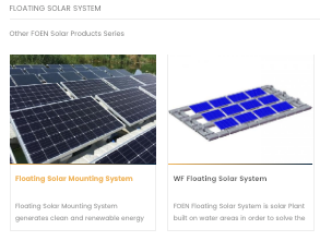 FOEN Solar Mounting Solutions Floating Solar System