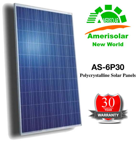 AS-6P30 Polycrystalline Solar Panels in Packs of 10 - Shipped from Factory to your door.