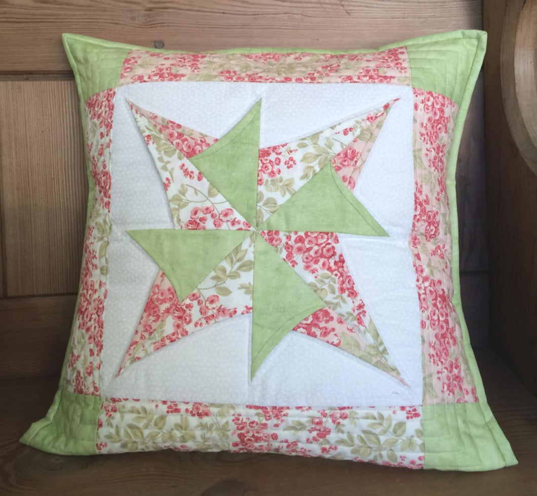 Rose Pinwheel Cushion Pattern