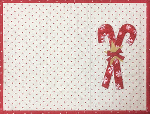 Candy Cane Placemat Pattern