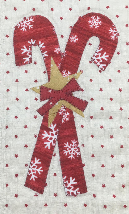 Candy Cane Placemat Pattern - Eighth Month of Christmas