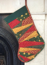 Crazy Patchwork Christmas Stocking Pattern
