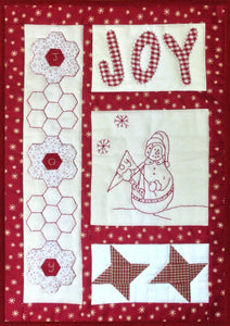 Village fabrics joy Christmas quilting kit